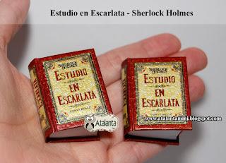 Estudio en Escarlata libro miniatura - minibook A Study in Scarlet - Sherlock Holmes