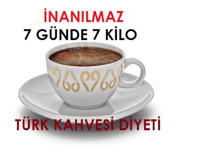 Türk Kahvesi Diyeti nasıl yapılır