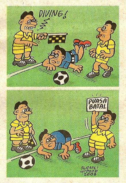 Komik Strip Bola karya Slamet Widodo. Pernah dipublikasikan di media massa pada 11 November 2003.
