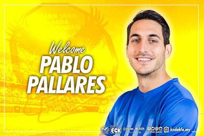 Biodata Pablo Pallares Pemain Import Baru Kedah 2018