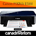 Canon PIXMA E500 Driver Download - For Windows, Mac And Linux