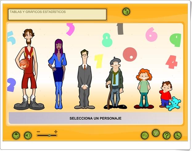 """""""Tablas y gráficos estadísticos"""" (Aplicación interactiva de Matemáticas de Primaria)"""