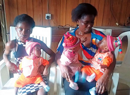 mother triplets abandoned by husband