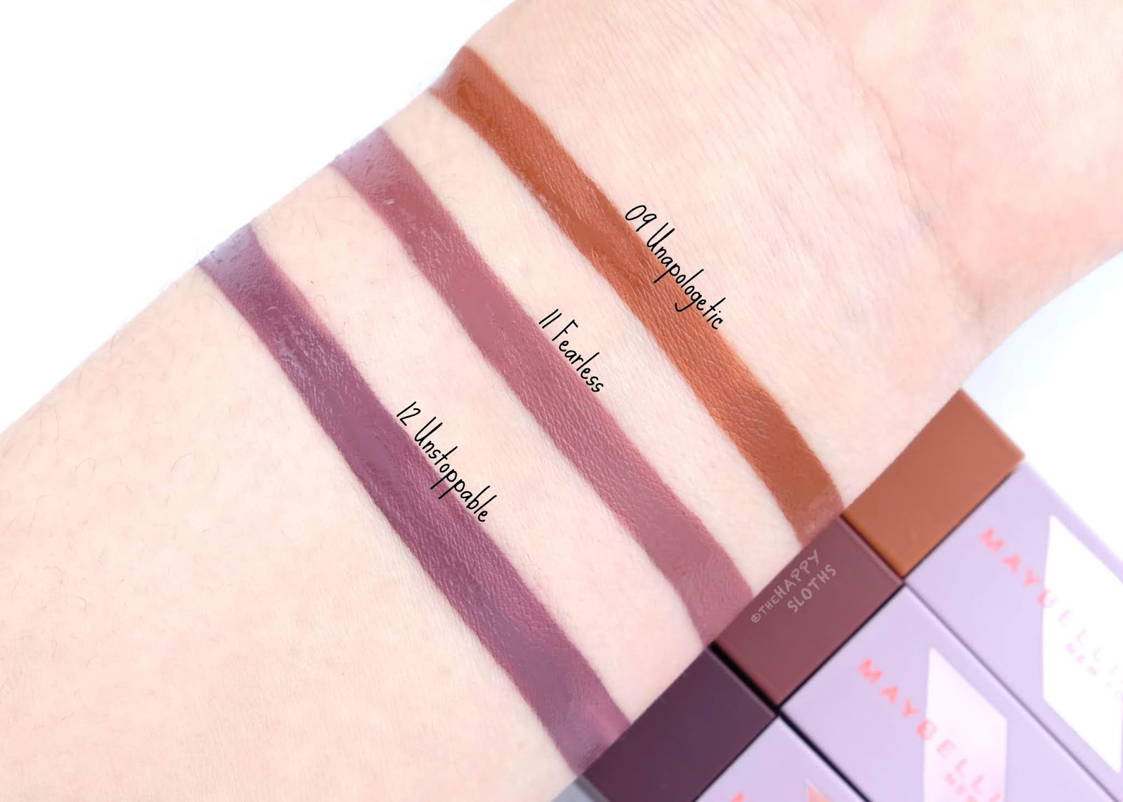 "Maybelline | Maybelline x Puma Superstay Matte Ink in ""09 Unapologetic"", ""11 Fearless"" & ""12 Unstoppable"": Review and Swatches"