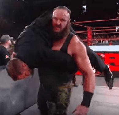 Braun Strowman Carrying His Victim On His Shoulder