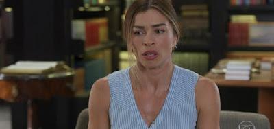 Paloma (Grazi Massafera) nem saberá, mas uma inimiga invadirá sua casa e quebrará tudo em Bom Sucesso