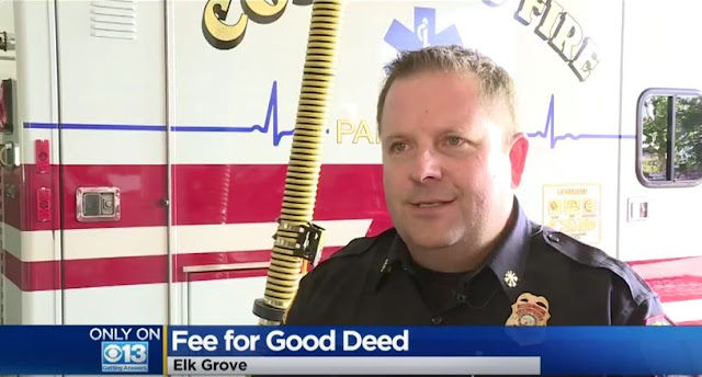 "Screen Capture From The Video Below:  The Fire Chief Cheerfully Offers That  The Bill Can Be ""Appealed"""