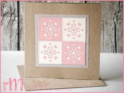 Stampin' Up! rosa Mädchen Kulmbach: Stamp A(r)ttack Blog Hop (7 auf einen Streich): Zum Verlieben / Hochzeitskarten mit Thinlits Fensterschachtel, Framelits Stickmuster und Grußelemente