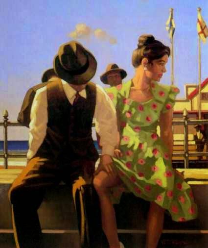 A Viagem do Descobrimento - Jack Vettriano e suas pinturas cheias de encontros íntimos