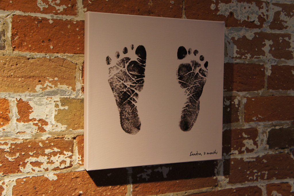 Create Wall Art From Fingerprints And Footprints