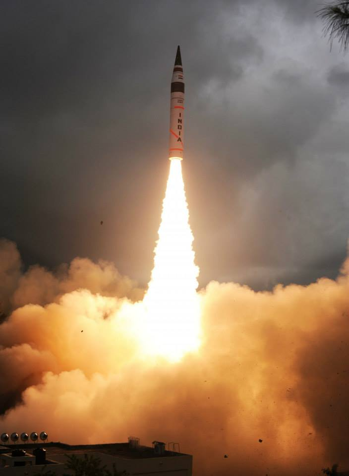 AGNI-V Missile Successfully test launched from Odisha , India
