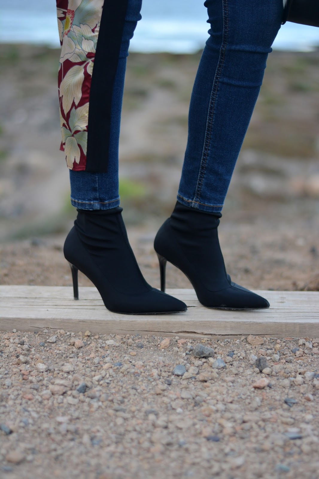mango-black-sock-boots