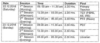 The schedule of KVS Exam for the post of PGTs, TGTs, PRTs & Librarian.