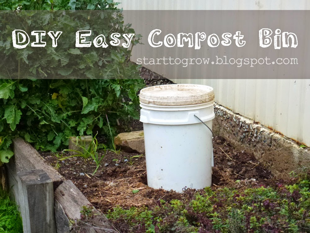 Start To Grow Diy Easy Compost Bin