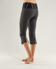 lululemon addict new tadasana slit crop