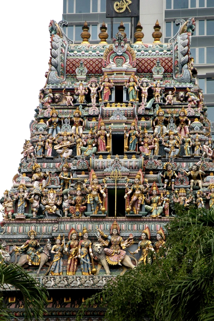 Hindu temple in  Little India Singapore