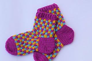 chaussettes adultes au crochet