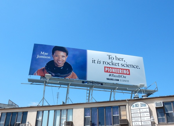 NASA Astronaut Mae Jemison Pioneering Values billboard