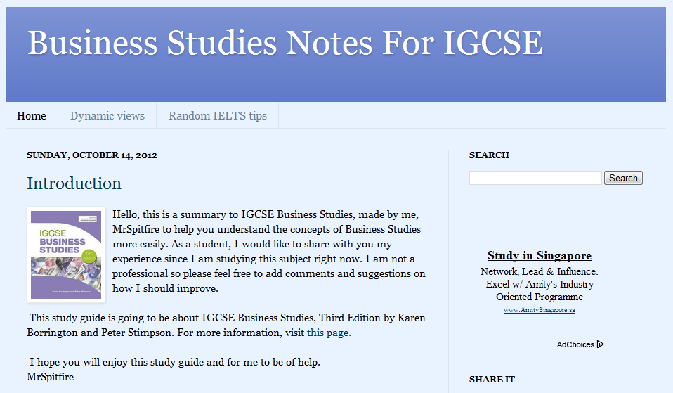 Business Studies Notes For IGCSE by MrSpitfire | 10i1 at WIS