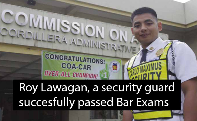 Roy Lawagan a Security Guard Who Successfully Passed Bar Exam