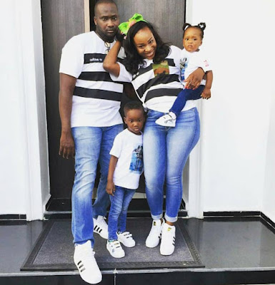 #FamilyGoals! Check Out This Adorable Husband, Wife And Children Rocking Demin Jeans All Through