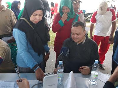 Dinkes Halsel Gelar Senam Germas dam Pemeriksaan Kesehatan Peringati HKN ke 54