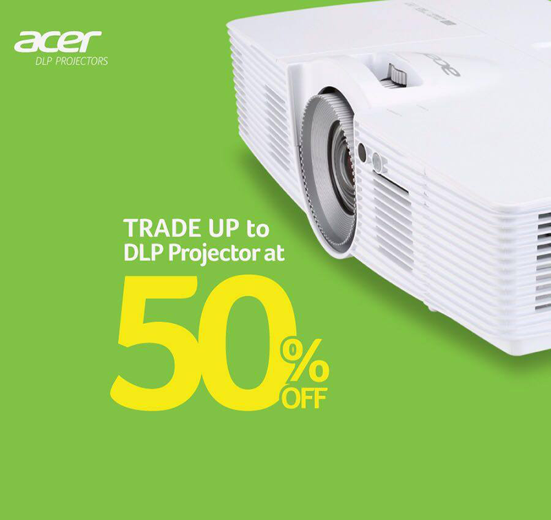 Acer Philippines Announced Trade Up To DLP Projector Promo At 50% Off!