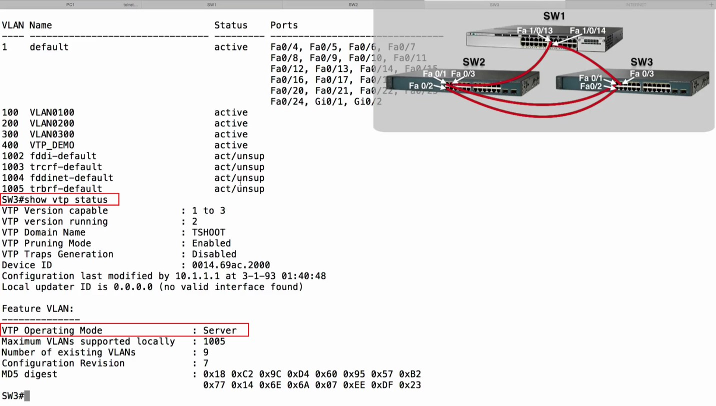 cisco vtp domain currently not in updating state-1