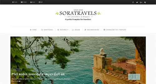 Sora Travels Blogger Template