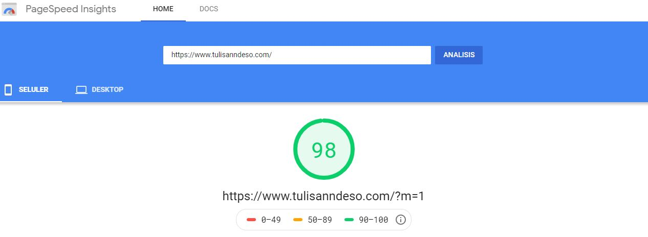 Google Page Speed Insights Kompi Flexible V8 Terbaru