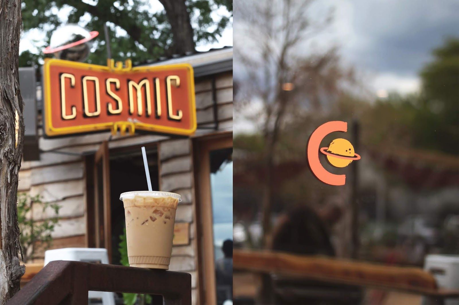 Cosmic Coffee Austin, Iced Coffee, Cozy Coffee Shop, Coffee Shops Vibe