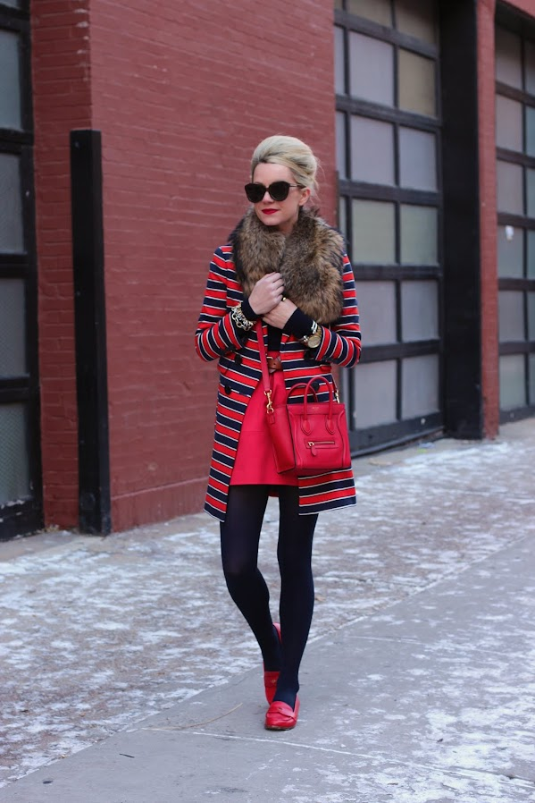 red blue striped coat blair atlantic pacific