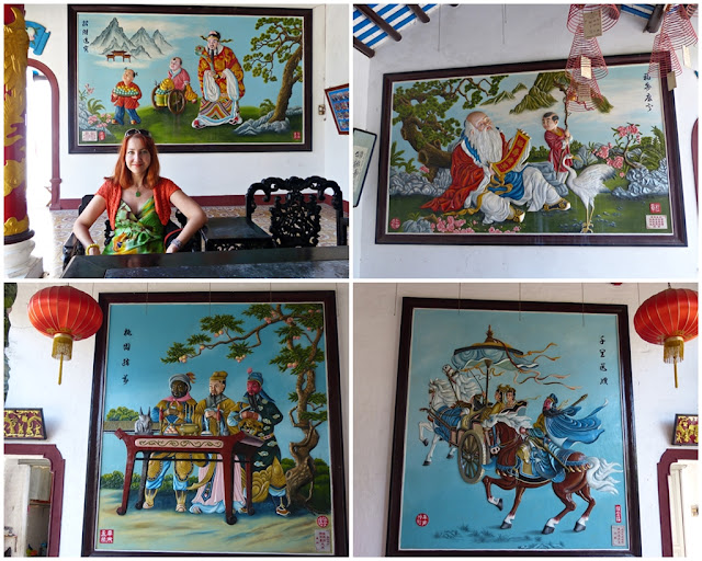 Chinese paintings at the Assembly Hall in Hoi An