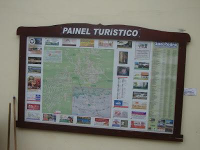 Mapa Turístico de São Pedro