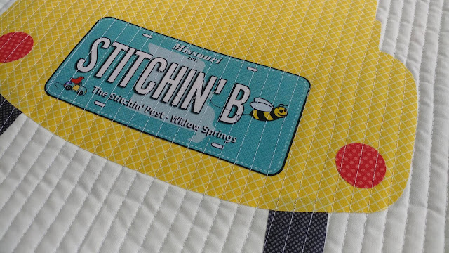 License to Shop pattern for fabric license plates