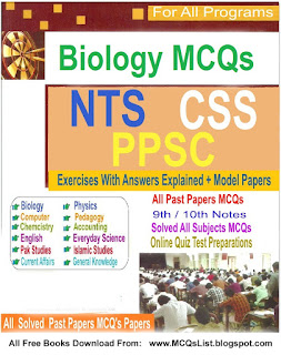 File:Biology MCQS PDF Book For NTS, FPSC, CSS, PMS Tests.svg
