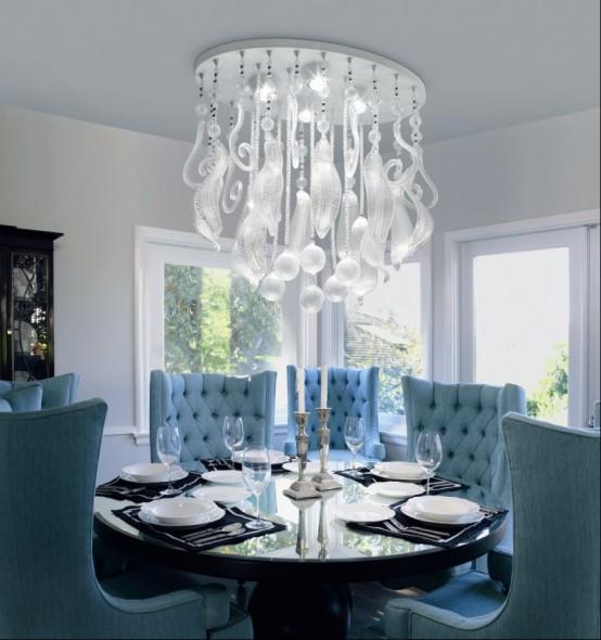 Unique Dining Room Light Fixtures: A Eterna Beleza Do Vidro De Murano