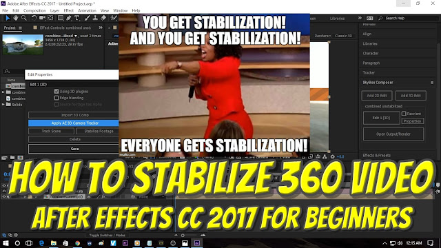 How to stabilize your 360 video with Adobe After Effects CC