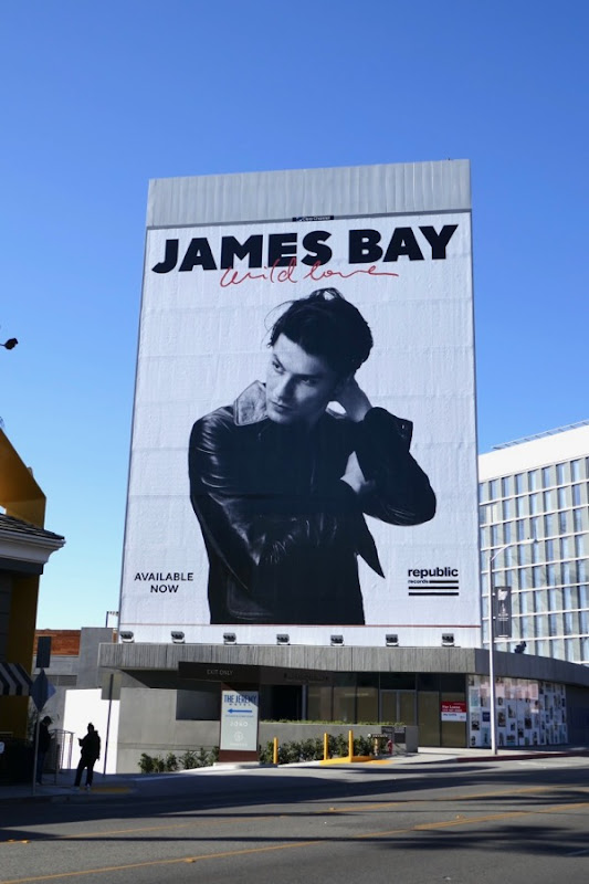 Giant James Bay Wild love billboard