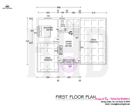 Floor plan drawing of first floor