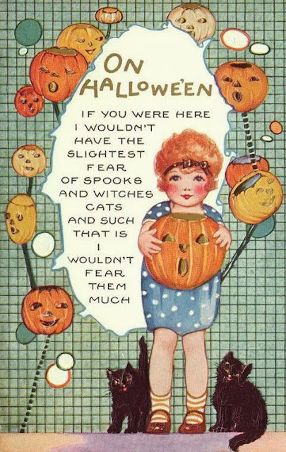 Vintage halloween post card of bat with full moon...happy ... |Halloween Poems For Friends