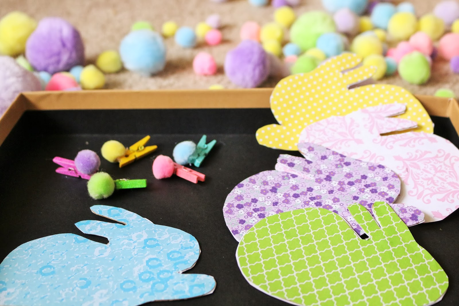 fine motor bunny tails