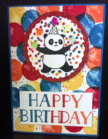 #stampinforall Childrens birthday card