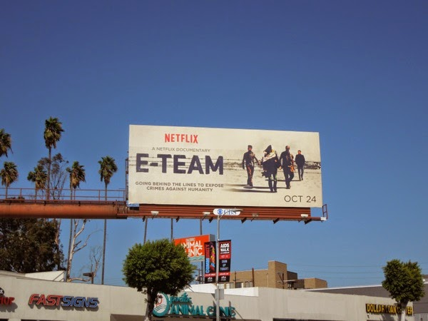 E-Team documentary billboard