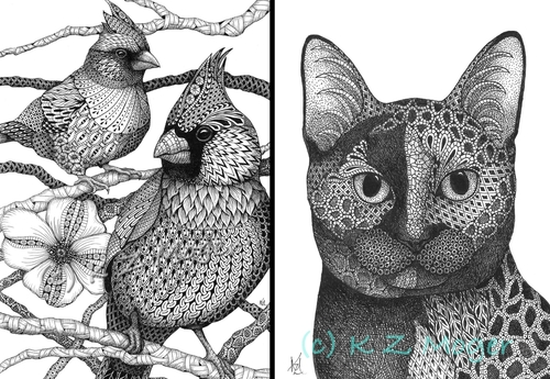 00-Kristin-Moger-Domestic-and-Wild-Zentangle-Animal-Portraits-www-designstack-co