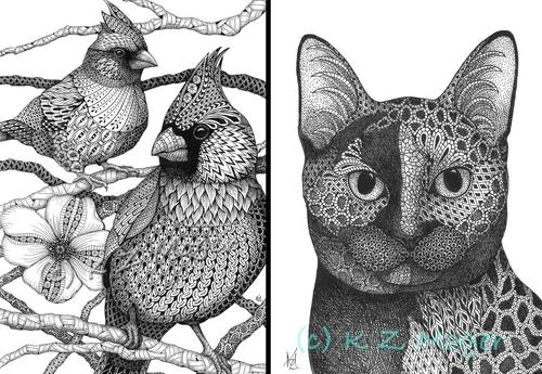 00-Kristin-Moger-Domestic-and-Wild-Zentangle-Animal-Portraits-www-designstack-co