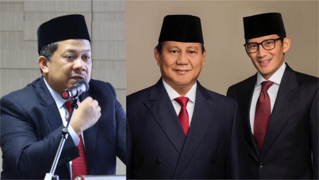 Tantangan Fahri Hamzah Untuk Prabowo-Sandi