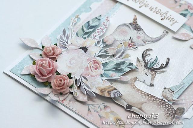 różowe róże z papieru