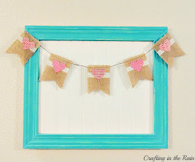 Burlap and washi tape Valentine's Banner