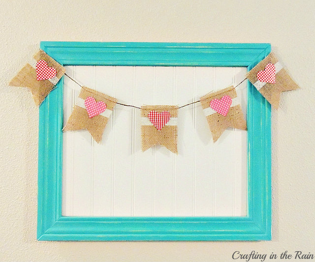 burlap and heart bunting